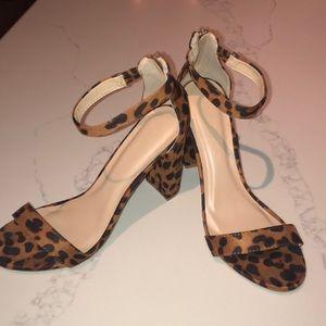 Leopard printed heels